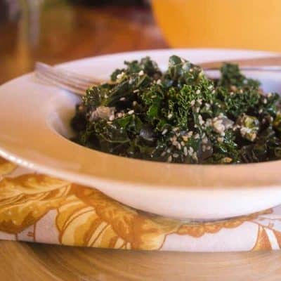 Sesame Ginger Kale… and Barbara Kingsolver