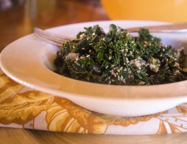 Sesame Ginger Kale… and Barbara Kingsolver