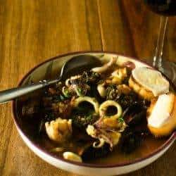 Seafood Stew with Saffron-infused Broth