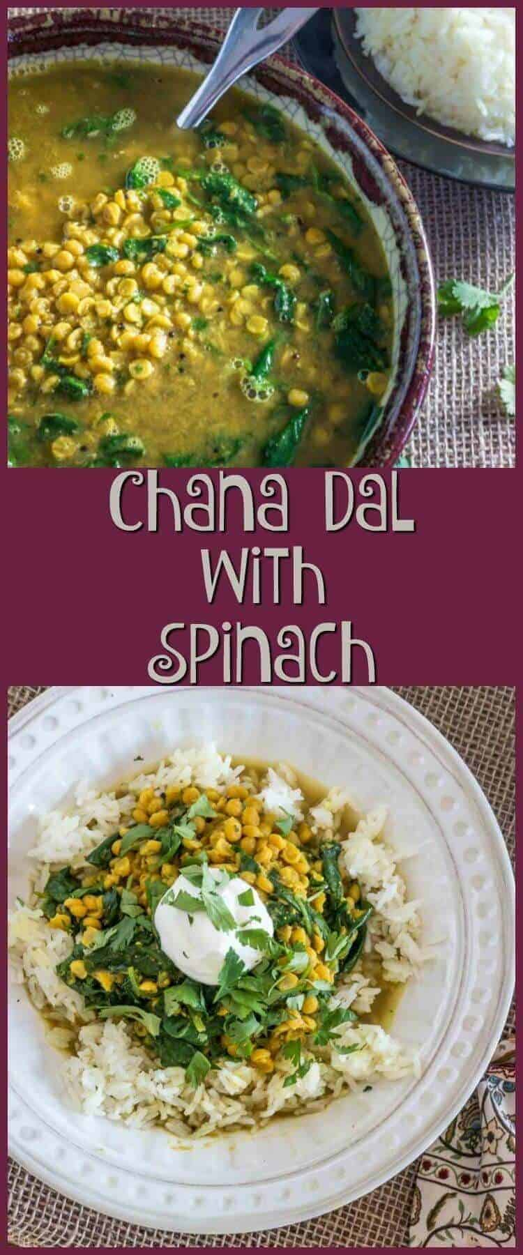 Chana Dal with Spinach Pin - Chana Dal with Spinach -