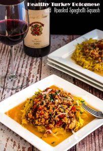 Healthy Turkey Bolognese and Roasted Spaghetti Squash