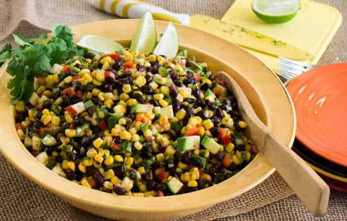 Southwest Black Bean, Corn and Green Chile Salad