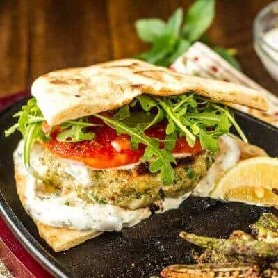 Healthy Indian-Style Chicken Sausage Burger
