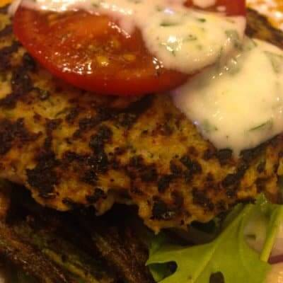 Indian Chicken Burgers & Okra Fries