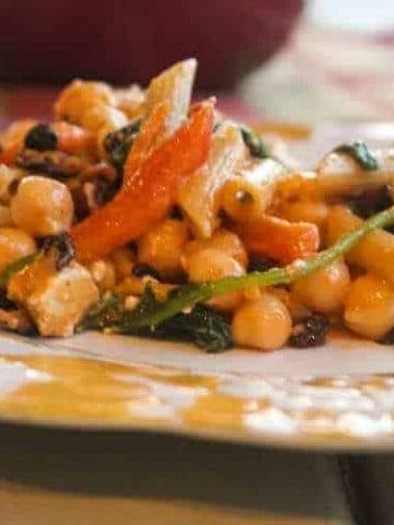 pasta and kale salad