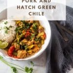 "Slow-cooked spicy, Hatch green chile goodness with tender pork cubes to serve over rice, polenta, or in tortillas... Pork and Hatch Chile (Slow Cooker or Instant Pot) is a perfect ""set it and forget it"" main dish with the flavors of New Mexico!"