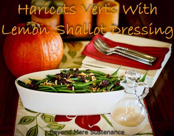 Haricots Verts With Lemon Shallot Dressing