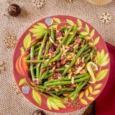 Haricots Verts With Lemon Shallot Vinaigrette