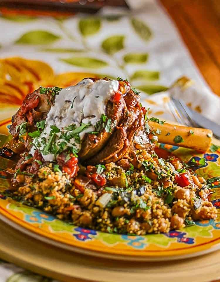 Pressure Cooker Braised Lamb Shanks and Couscous