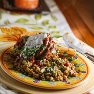 Pressure-Cooker Braised Lamb Shanks & Couscous