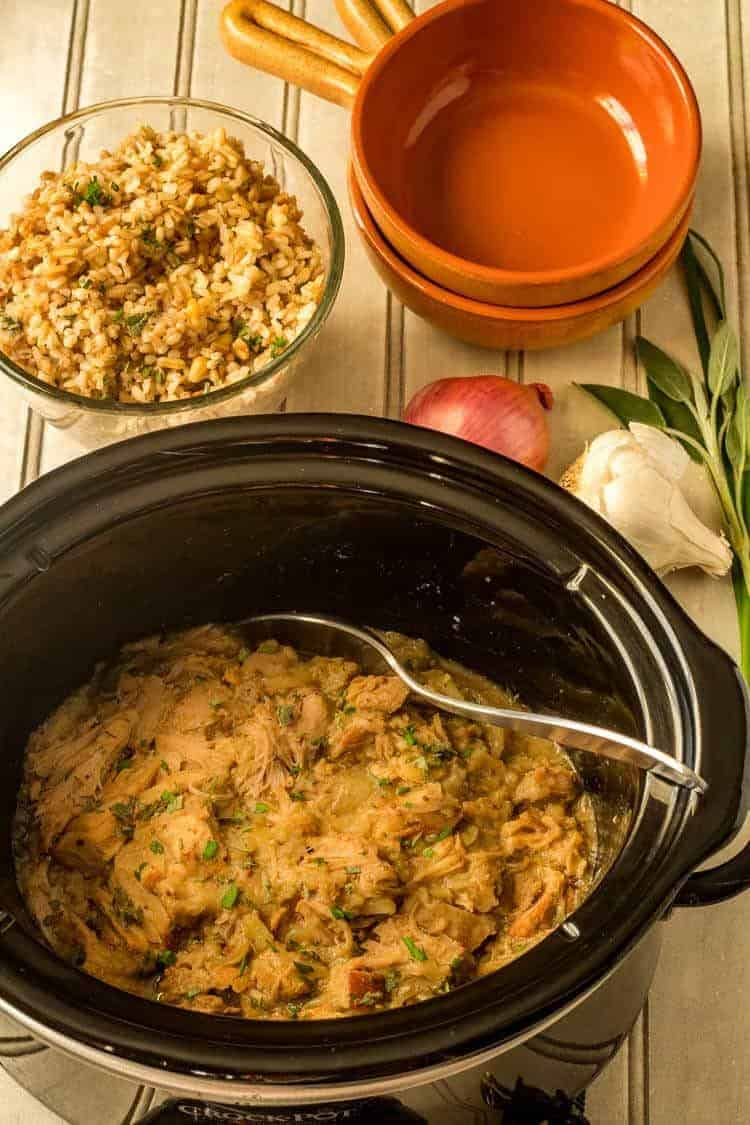 Slow Cooker Pork and Apples in Slow Cooker