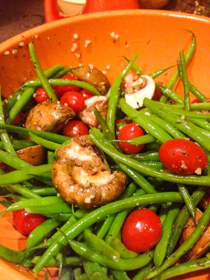 Roasted Green Beans, Tomatoes, & Bleu Cheese | Beyond Mere Sustenance