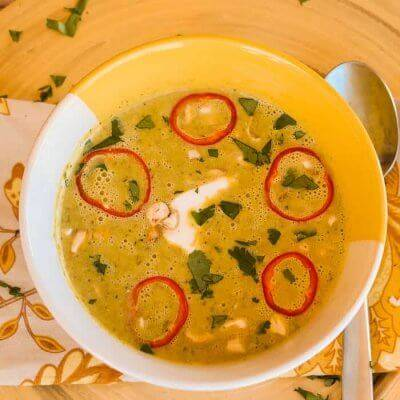 Curry-Spiced Cream of Broccoli Soup