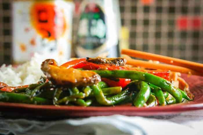 Stir-Fried Green Beans & Shiitake