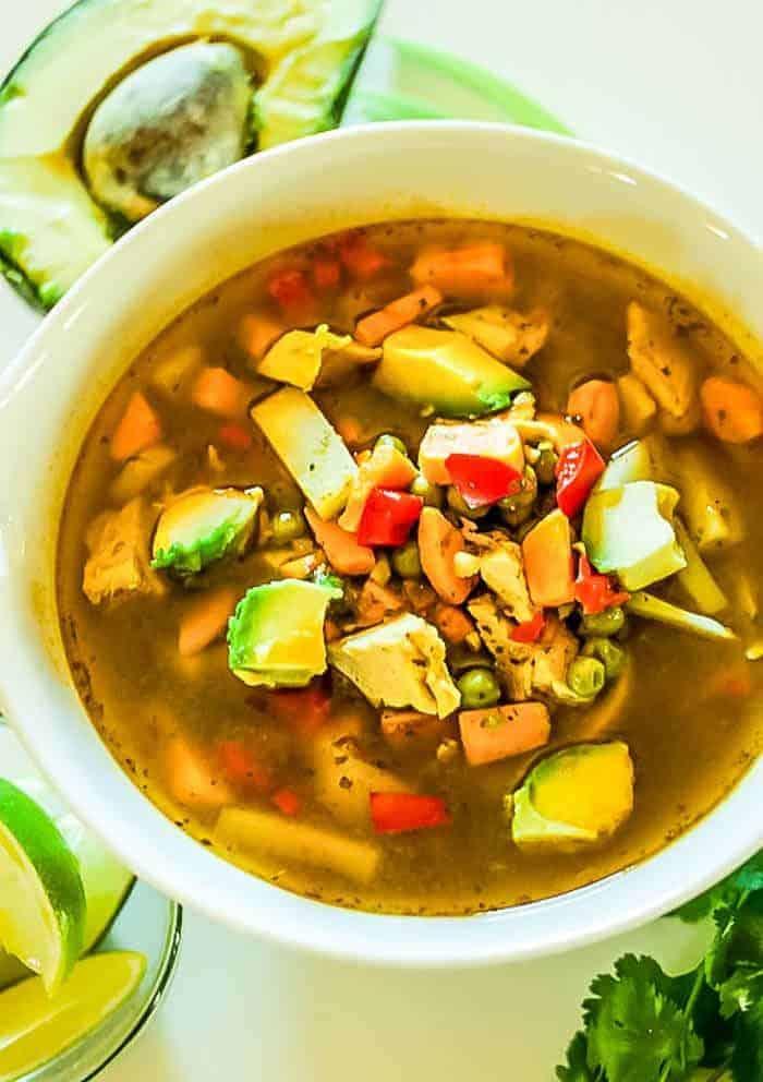 Peruvian Chicken and Cilantro Soup
