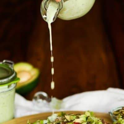 Cilantro-Jalapeno Ranch Dressing (with a southwest salad)