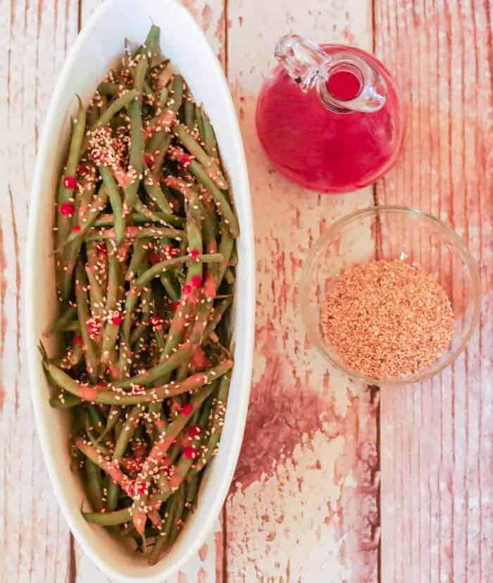 Spicy Tahini & Ginger Green Beans