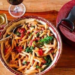 Spanish Pasta With Sausage and Greens