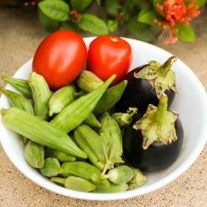 Curried Okra and Eggplant
