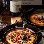 Instant Pot Pork Ragu with Basil Polenta achieves slow-cooked goodness in a fraction of the time using a pressure-cooker! Lean pork cook in red wine, tomatoes, and herbs with plump currants over creamy basil polenta... Bellissimo! - #InstantPot #PressureCooker #Italian #porkragu #basilpolenta #glutenfreemains #ragurecipes