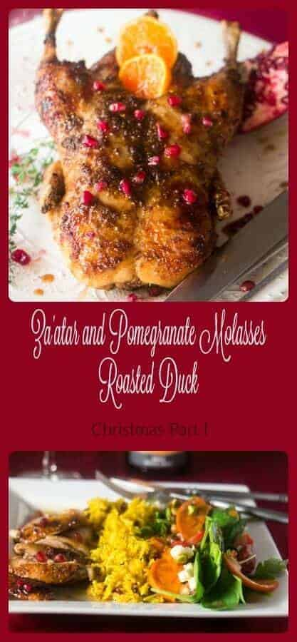 Za'atar and Pomegranate Molasses Roasted Duck - Persian flavors provide an interesting and flavorful twist to a traditional holiday favorite!
