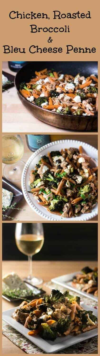 Chicken, Roasted Broccoli, & Bleu Cheese Penne... bold flavors come together in this perfectly paired pasta!