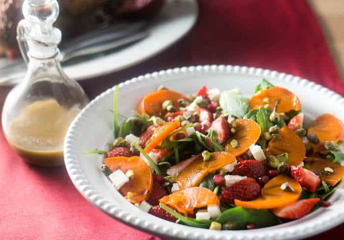 Spinach and Persimmon Salad with Citrus Vinaigrette ...