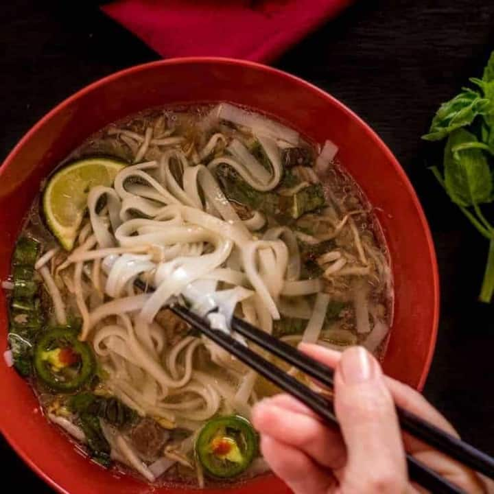 Instant Pot Beef Pho feature image.