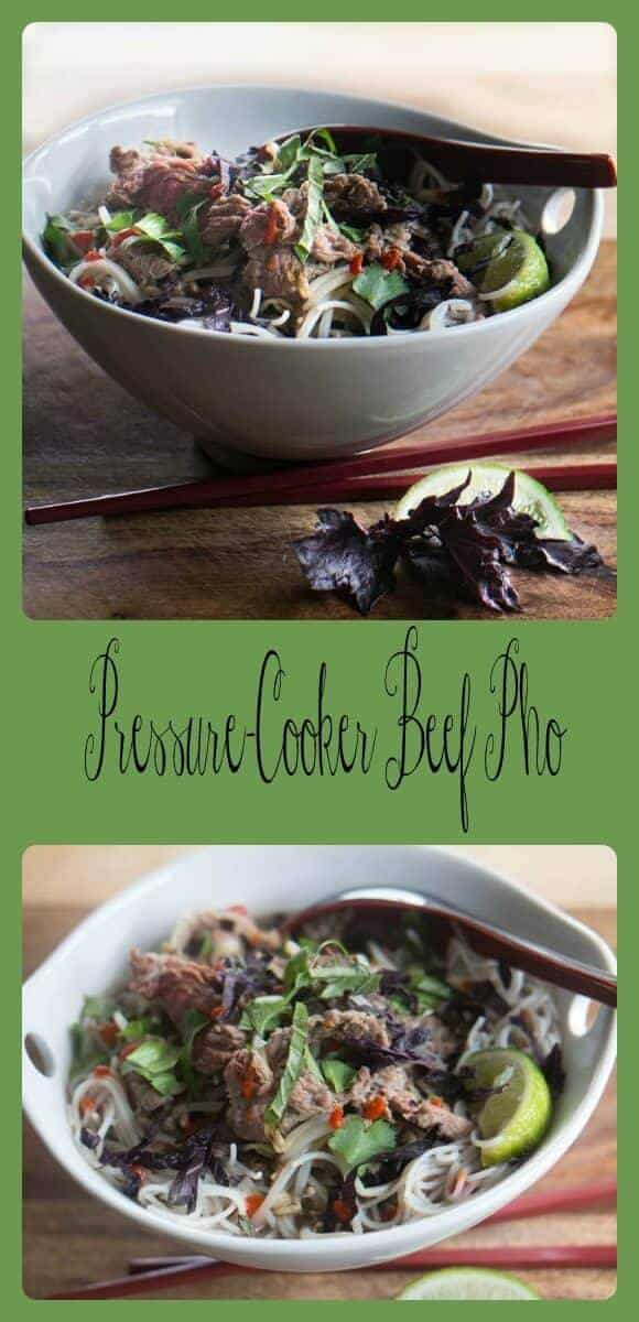 Pressure-Cooker Beef Pho... traditional spice-infused tender and rare beef pho in a fraction of the time!