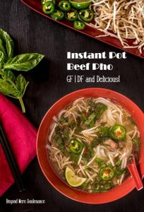All the flavor of traditional beef pho with its comforting spices and aromatics done in half the time with your Instant Pot/Pressure Cooker. Instant Pot Beef Pho is Vietnamese comfort food at its best! #glutenfreesoups #dairyfreesoups #InstantPot #pressurecooker #phorecipes #beefpho #InstantPotbeefpho #Vietnamesesoup