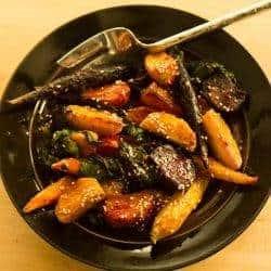 Orange Miso Glazed Beets and Carrots