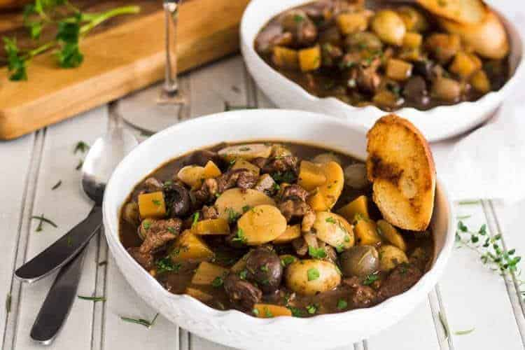 Pressure Cooker Lamb Stew Provencal