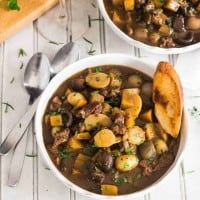 Instant Pot Lamb Stew Provencal