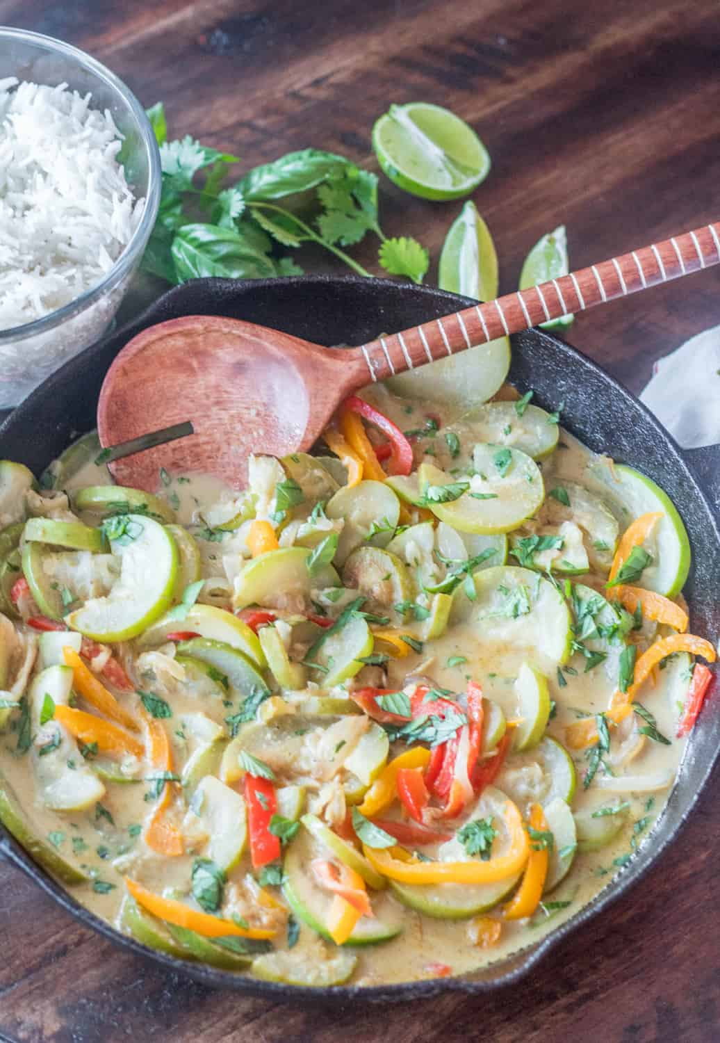 Thai Curried Opo Squash and Peppers Hero
