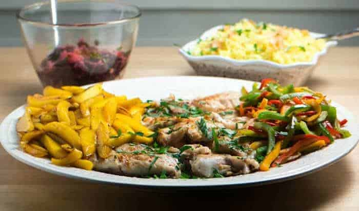 Caribbean Style Fish With Orange Ginger Salad