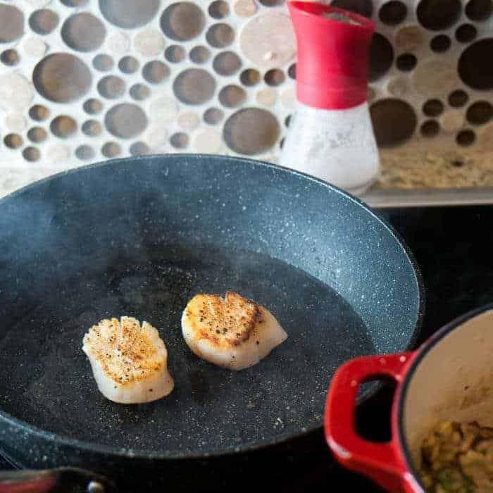 Seared Scallop And Mushroom Risotto