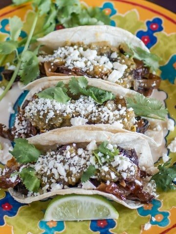 Lengua Tacos with Salsa Verde and Caramelized Onions Feature Image