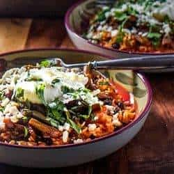 Nopalitos and Red Chile Rice Bowls