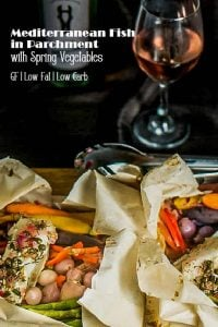 Mediterranean Fish In Parchment With Spring Vegetables Pin