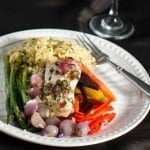 Mediterranean Fish In Parchment With Spring Vegetables