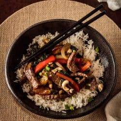 Beef, Clementine, and Tuscan Kale Stir-Fry