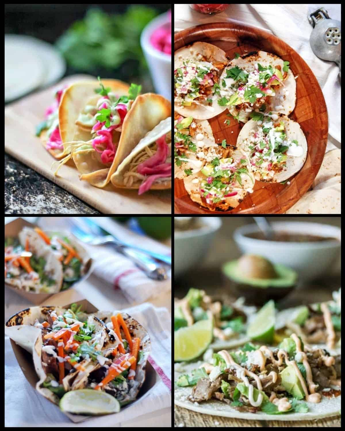 25 Exciting and (Mostly) Healthy Taco Recipes - Global influences and a variety of proteins make this a unique and delicious collection!