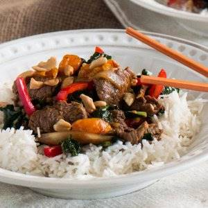 Beef, Clementine, and Tuscan Kale Stir Fry