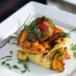 Grilled Green Chile Polenta With Citrus Shrimp