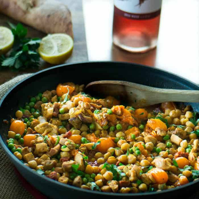 Spanish Style Chicken and Chick Pea Stew