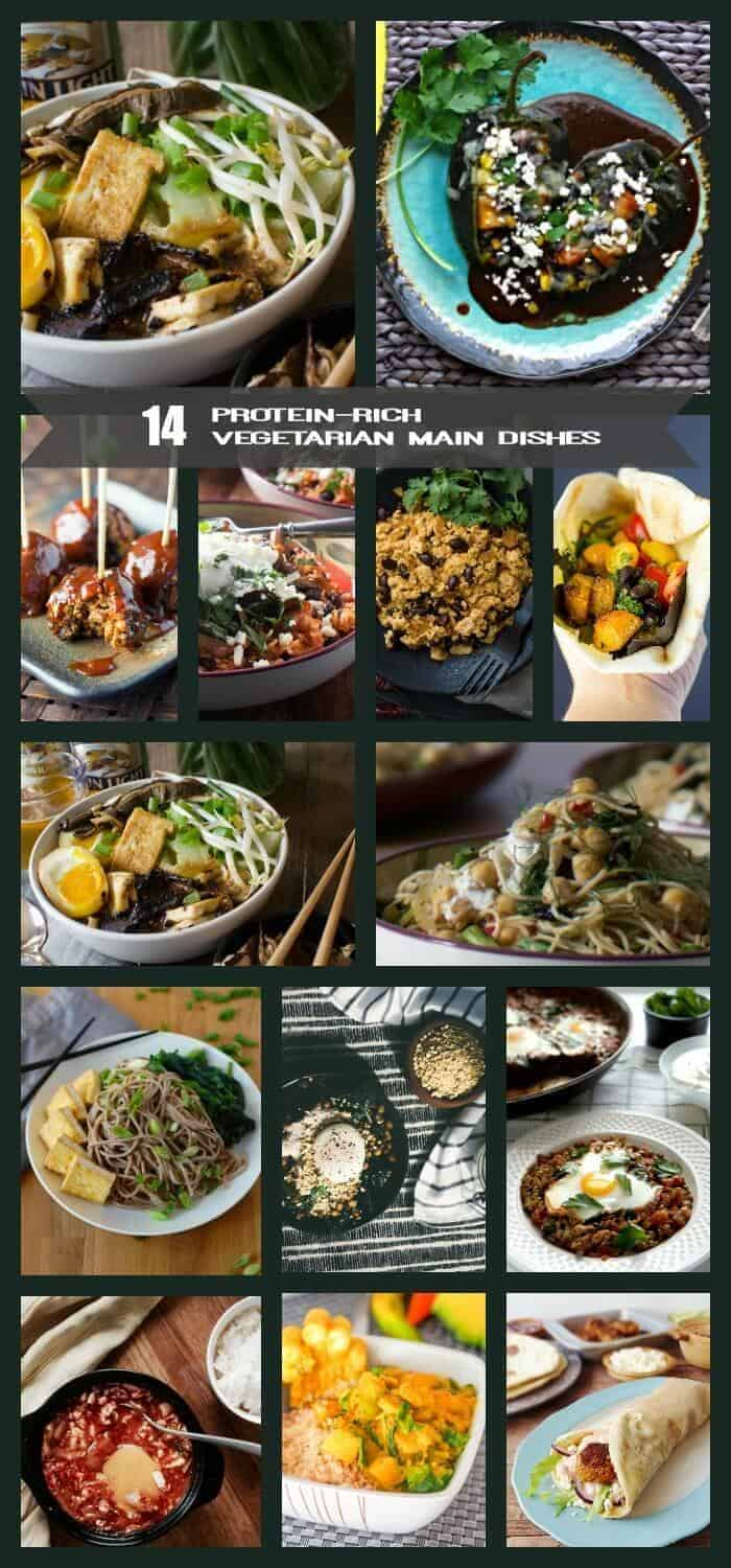 14 Protein-Rich Vegetarian Main Dishes - 19-34 grams of protein per serving!
