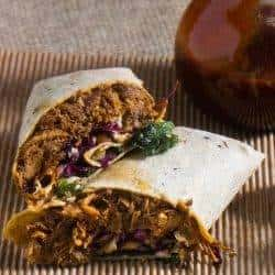 Korean-Style Pressure-Cooker Pulled Pork Wraps With Asian Slaw & Kimchi