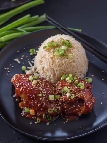 Instant PotKorean Chicken Thighs Feature Image
