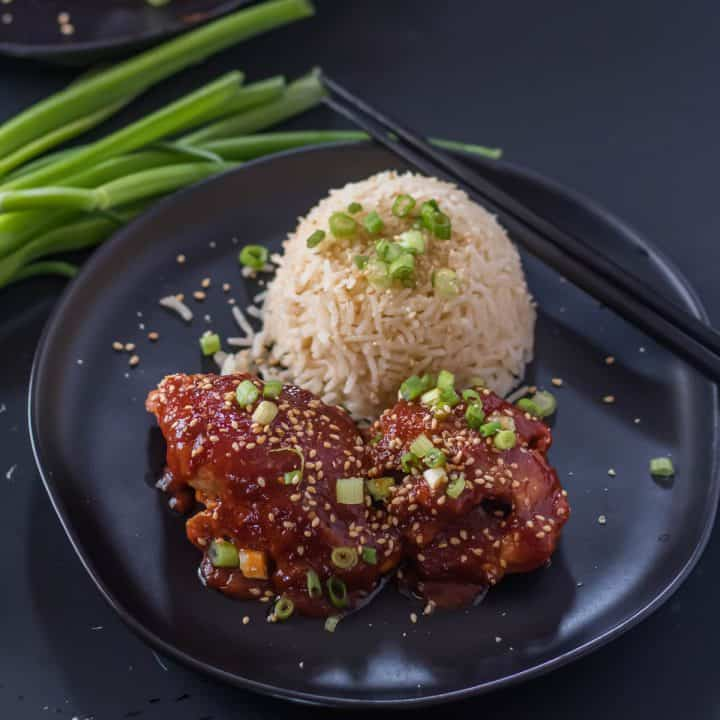 Instant PotKorean Chicken Thighs Feature Image