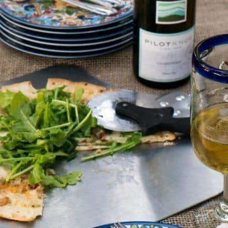 Easy Clam & Chorizo Pizza With Arugula Salad
